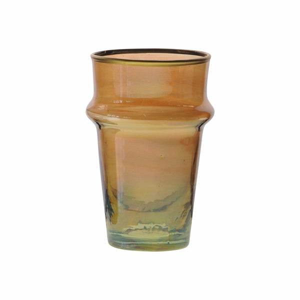 Tea Glass Beldi Gold M, Amber. D6xH10 cm