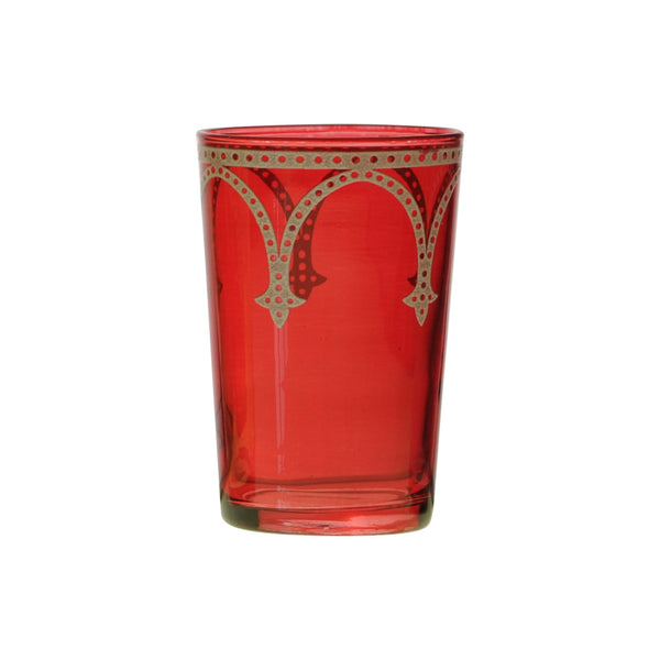Tea glass Cindbad White, Red
