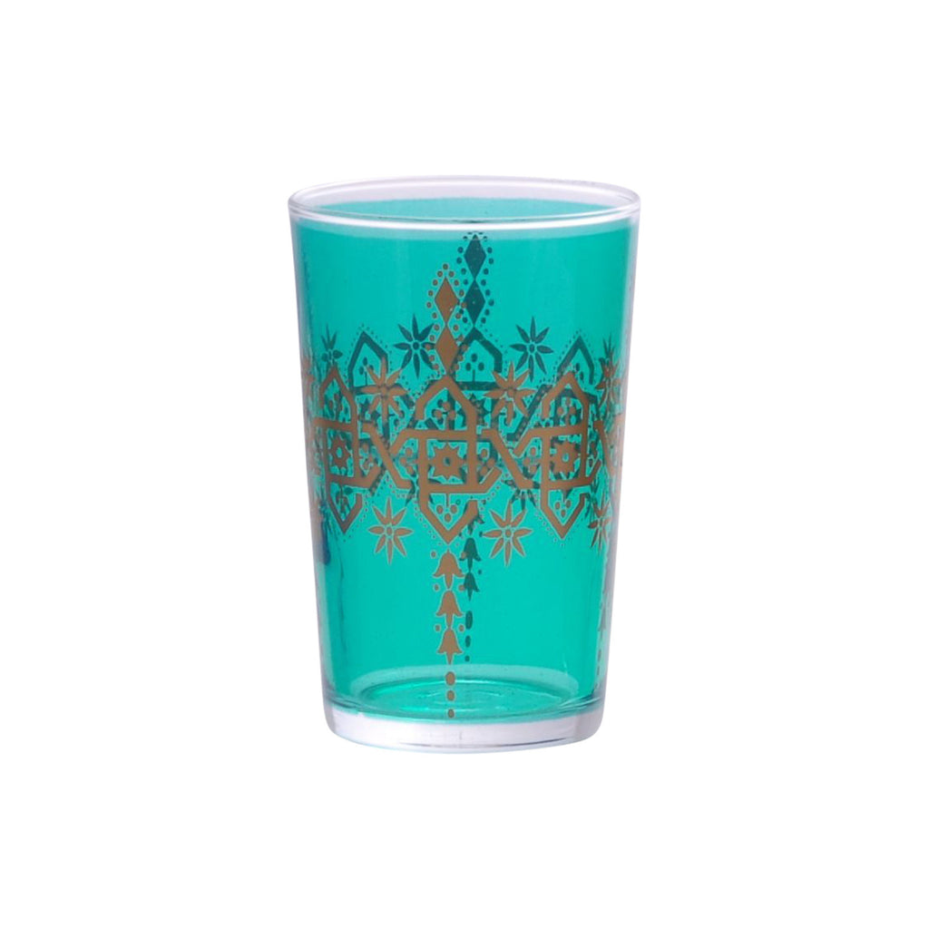 Tea glass Henna Berrad, Aqua