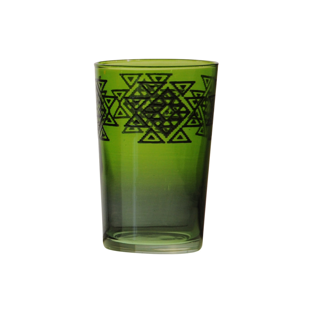 Tea Glass Hanbel, Green. D6xH9,5 cm