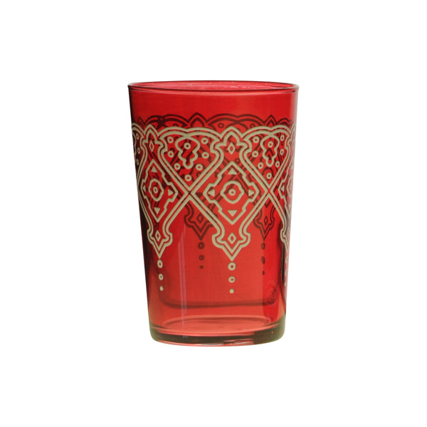 Tea glass Punto Relief, Red