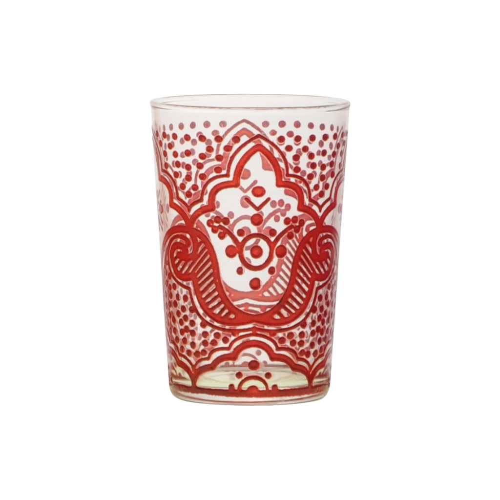 Tea glass Chiba, Red