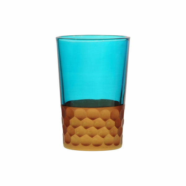 Tea Glass Tila Copper, Aqua. D6xH9,5 cm