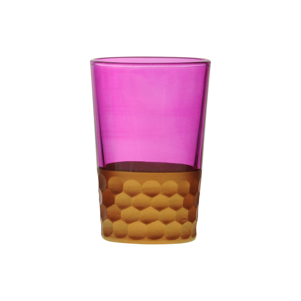Tea Glass Tila Copper, Pink. D6xH9,5 cm