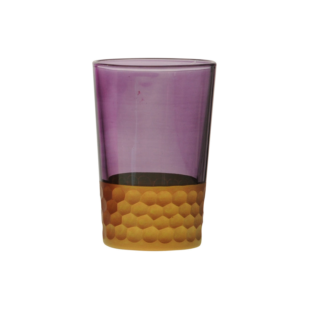 Tea Glass Tila Copper, Violet. D6xH9,5 cm