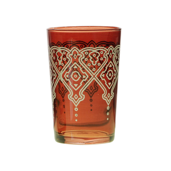 Tea glass Punto Relief, Cognac