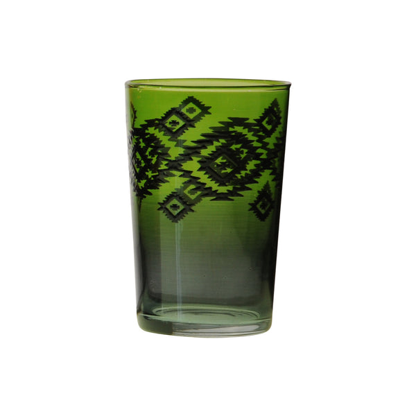 Tea Glass Zalag, Green. D6xH9,5 cm