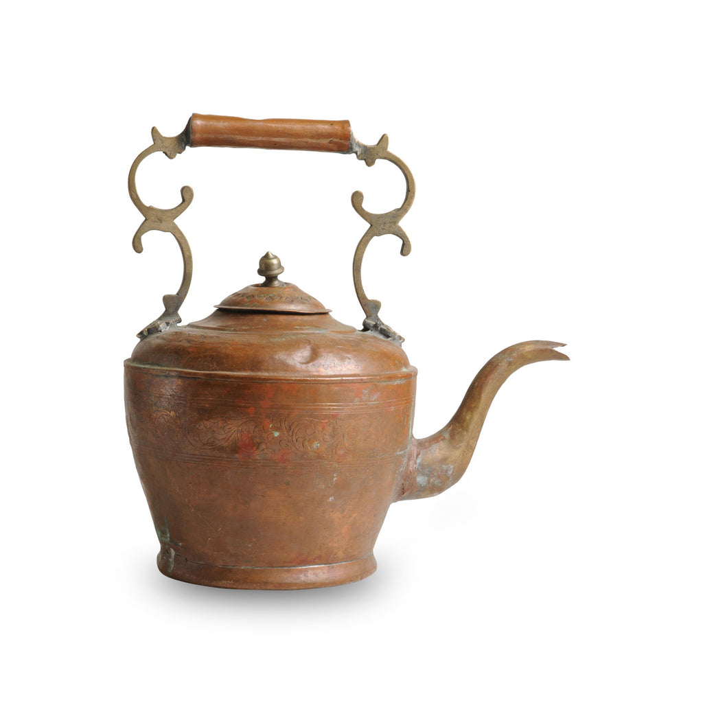 Antique Water Kettle M, Copper