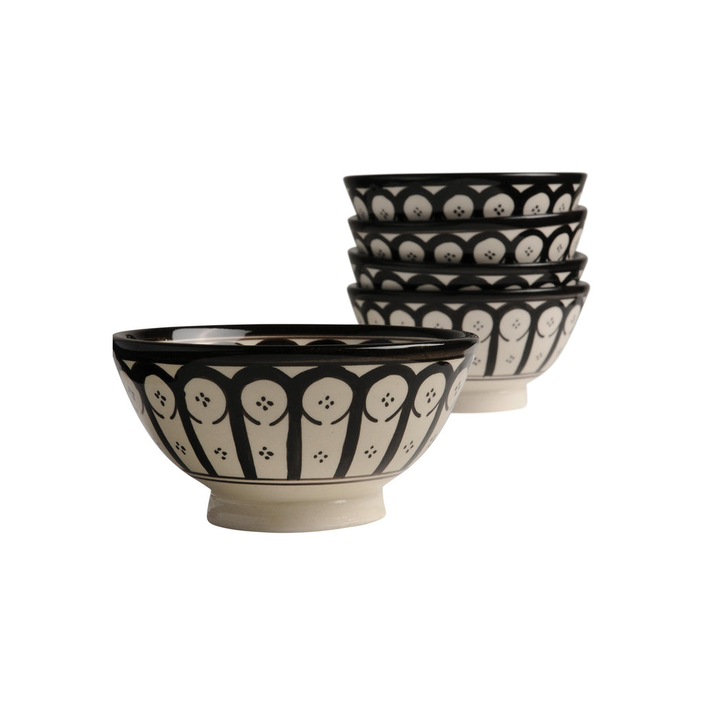 Ceramic Bowl Ayoun, D12cm. Black
