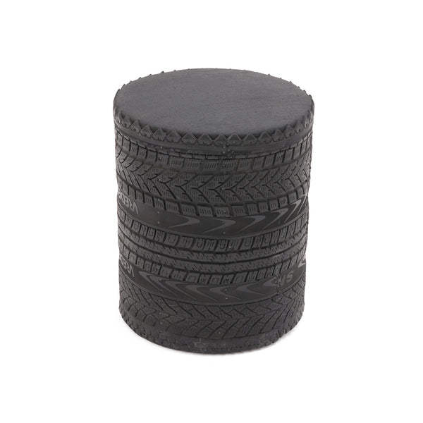 Rubber Stool R2, raw black