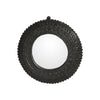 Rubber Mirror round, D60 cm. Raw Black