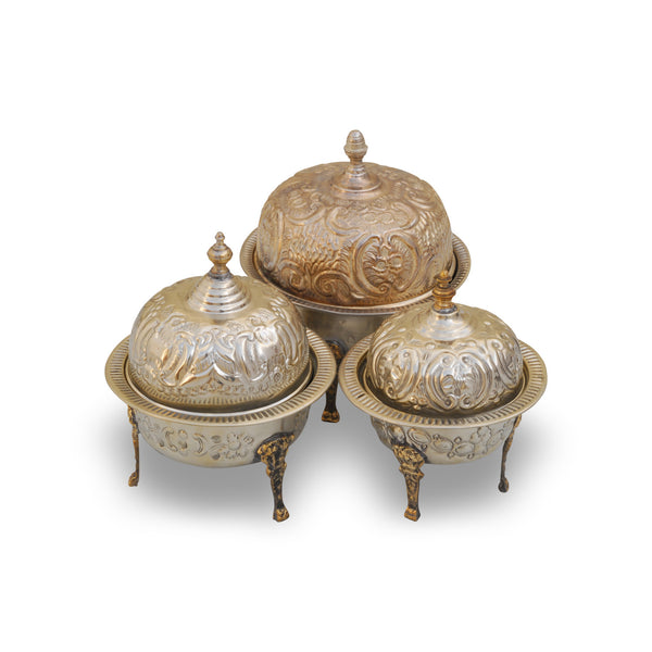 Antique Tea Caddy Kora. Set of 3