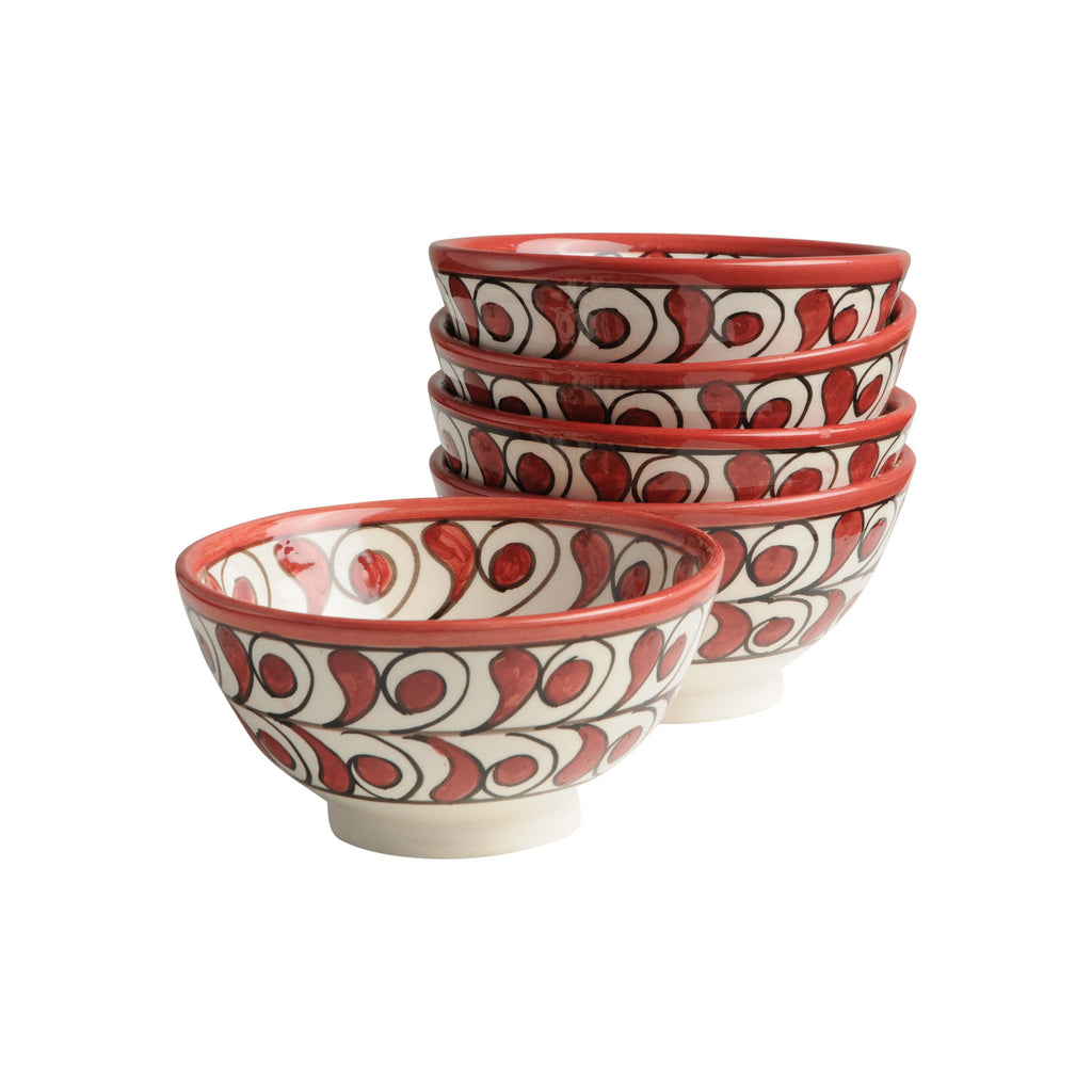 Ceramic Bowl Lorca, D12 cm. Red
