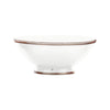 Ceramic Bowl w. Silver Trim, D25 cm, White