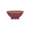 Ceramic Bowl w. Silver Trim, D20 cm, Bordeaux