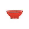 Ceramic Bowl w. Silver Trim, D20 cm, Chili