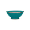 Ceramic Bowl w. Silver Trim, D20 cm, Emerald