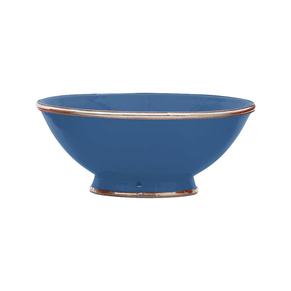 Ceramic Bowl w. Silver Trim, D25 cm, Night Blue