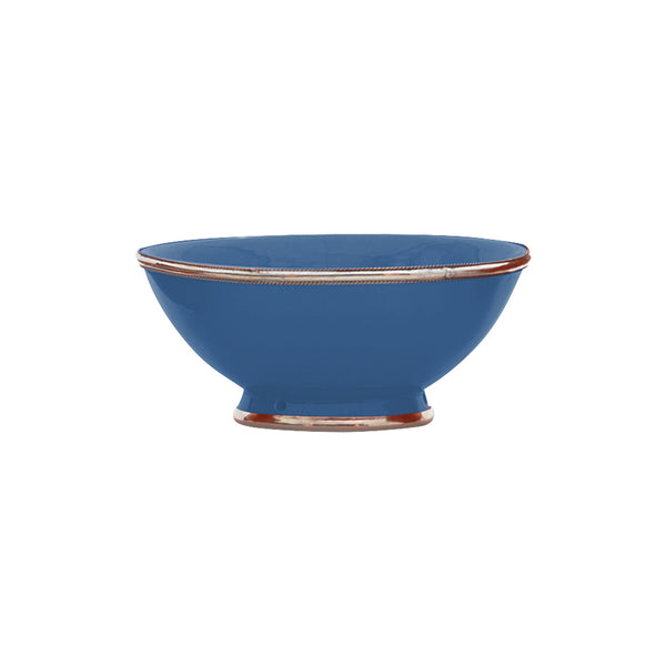 Ceramic Bowl w. Silver Trim, D20 cm, Night Blue