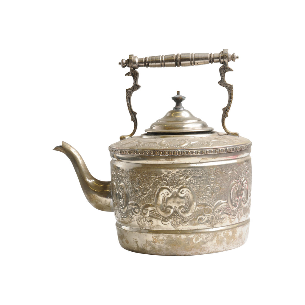 Antique Water Kettle XL, silber