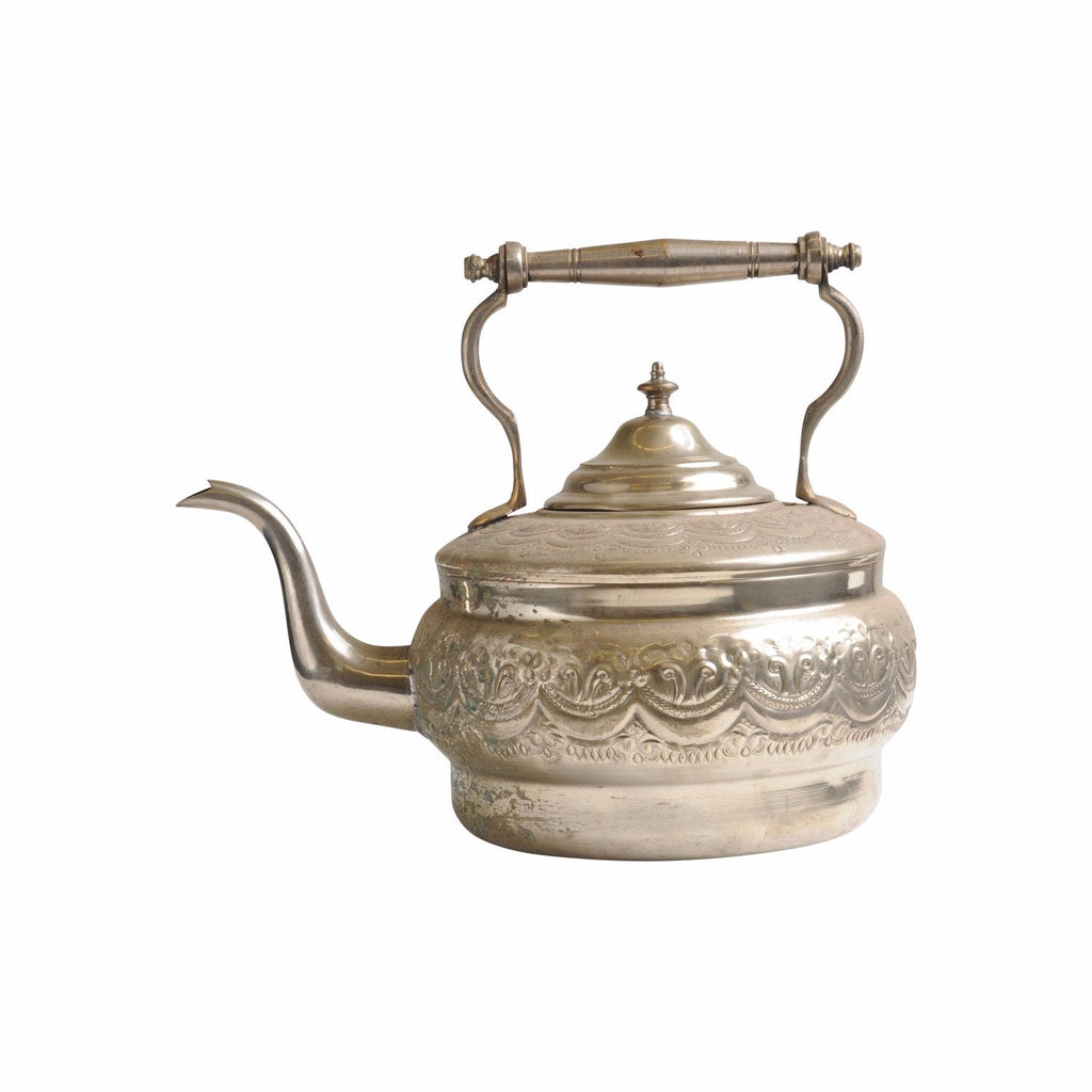 Antique Water Kettle XL, Silver