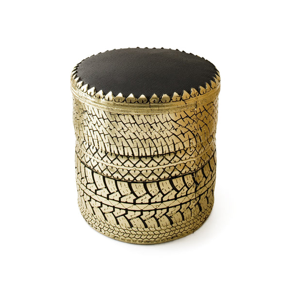 Rubber Stool R1, Gold