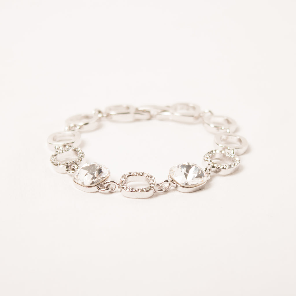 Sqaure Cut Clear Bracelet