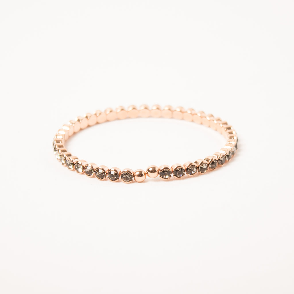 Black Diamond/Rose Gold Flexi Bangle