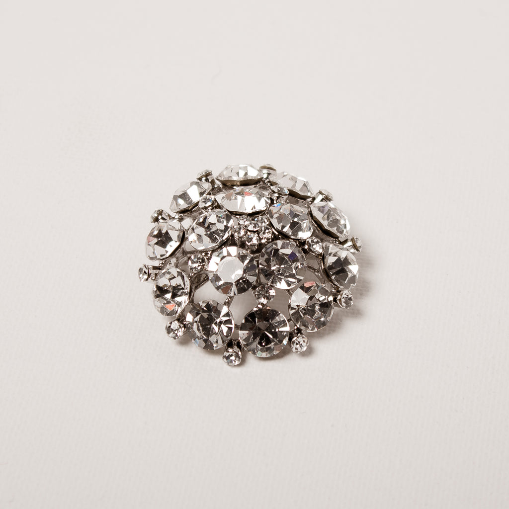 Crystal Encrusted Large Brooch