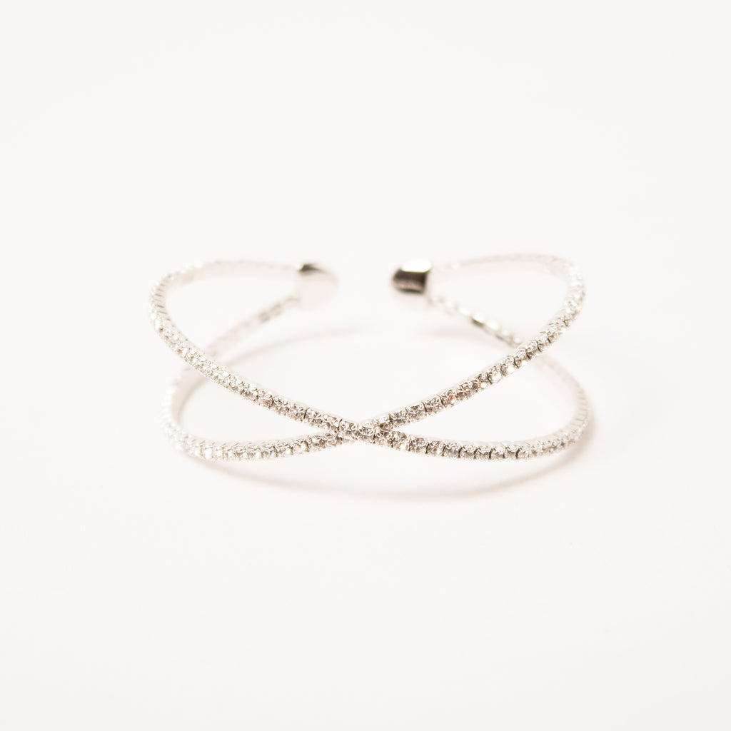 Criss Cross Bangle Clear