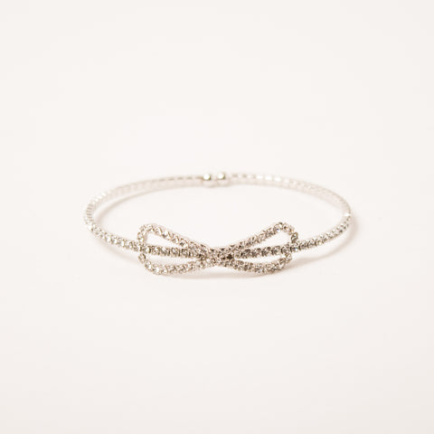 Crystal Bow Bangle Clear