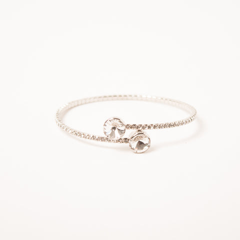 Overlap Crystal Bangle