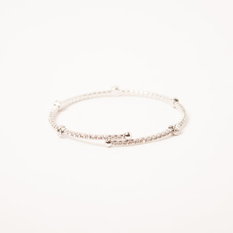 Crystal Bangle With Medium Scatter Crystals Clear