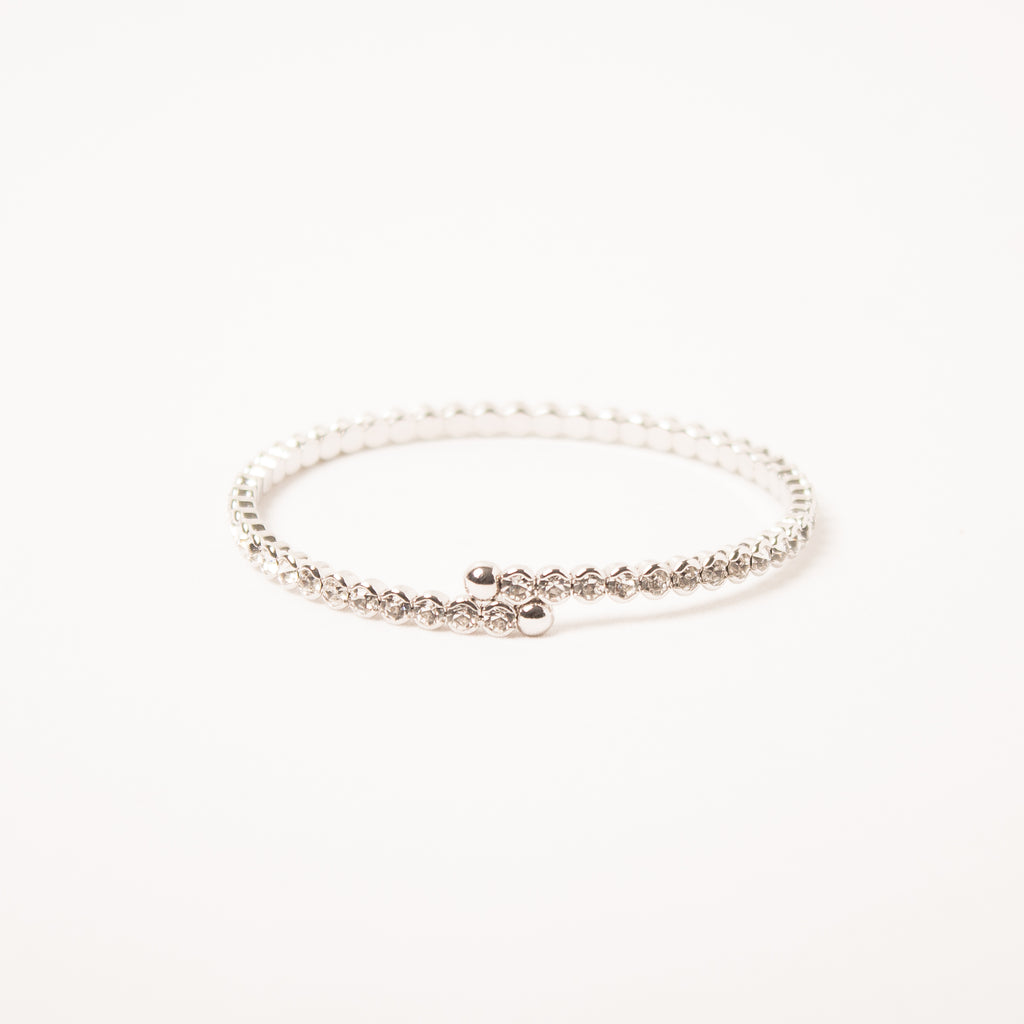 Small Crystal Flexi Bangle Clear