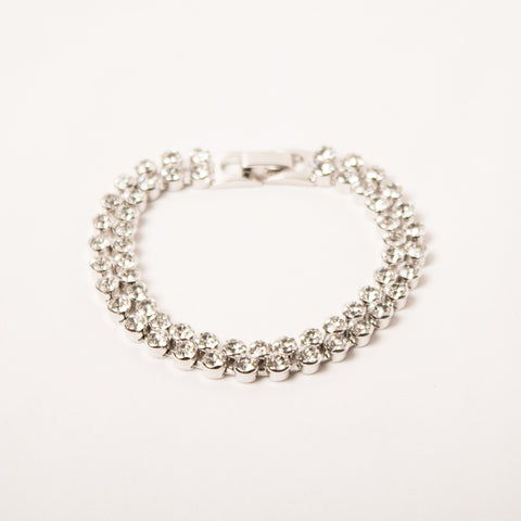 2 Row Tennis Bracelet Clear