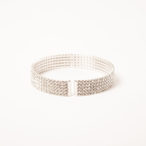 5 Row Crystal Pave Cuff Clear