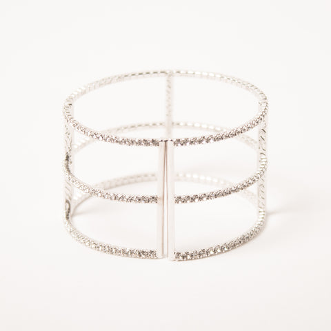 3 Row T Bangle Clear