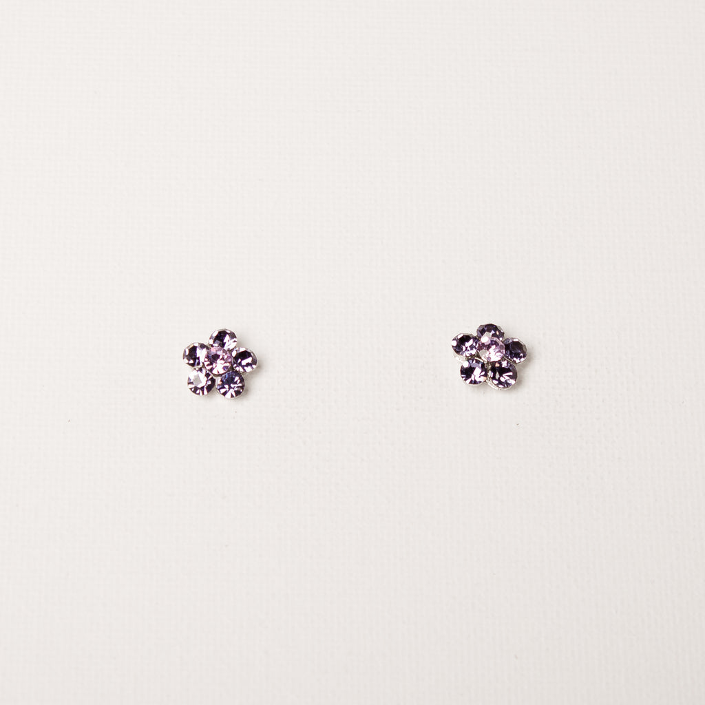 Small Daisy Flower Studs Tanzanite