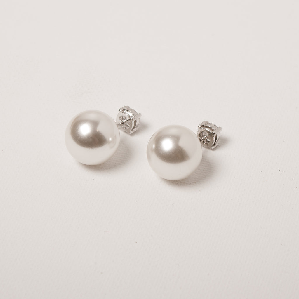 Double Earring Pearl&Crystal Front/Back