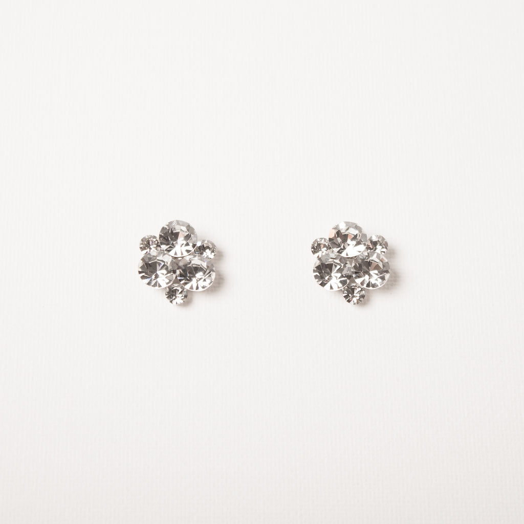 Crystal Cluster Large Studs Clear