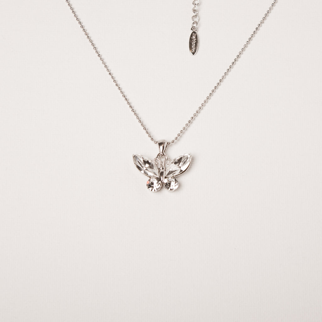 Butterfly Necklace Clear