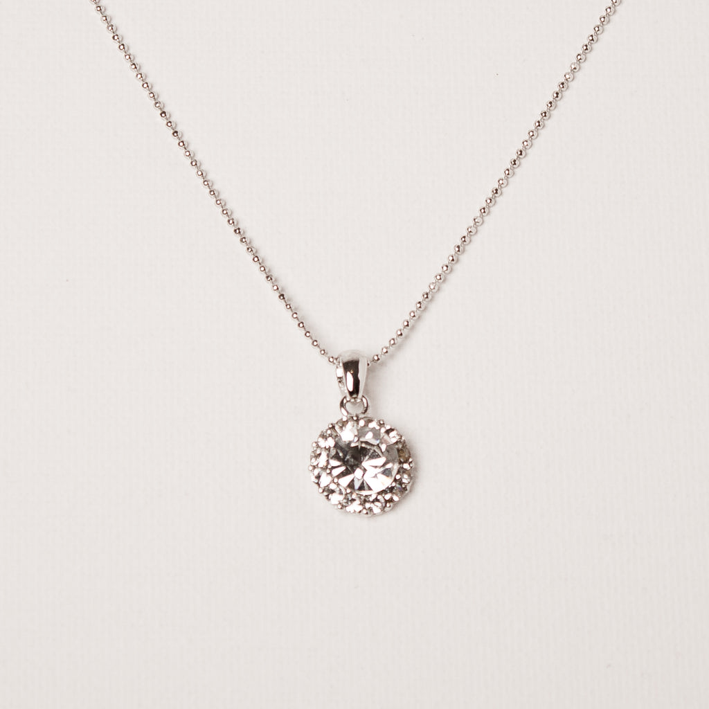 Medium Flower Necklace Clear