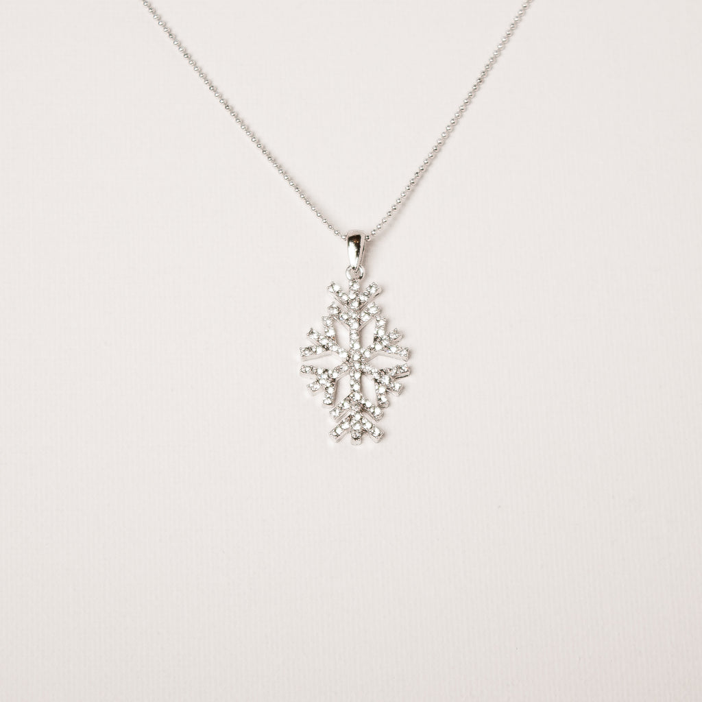 Crystal Long Snowflake Necklace