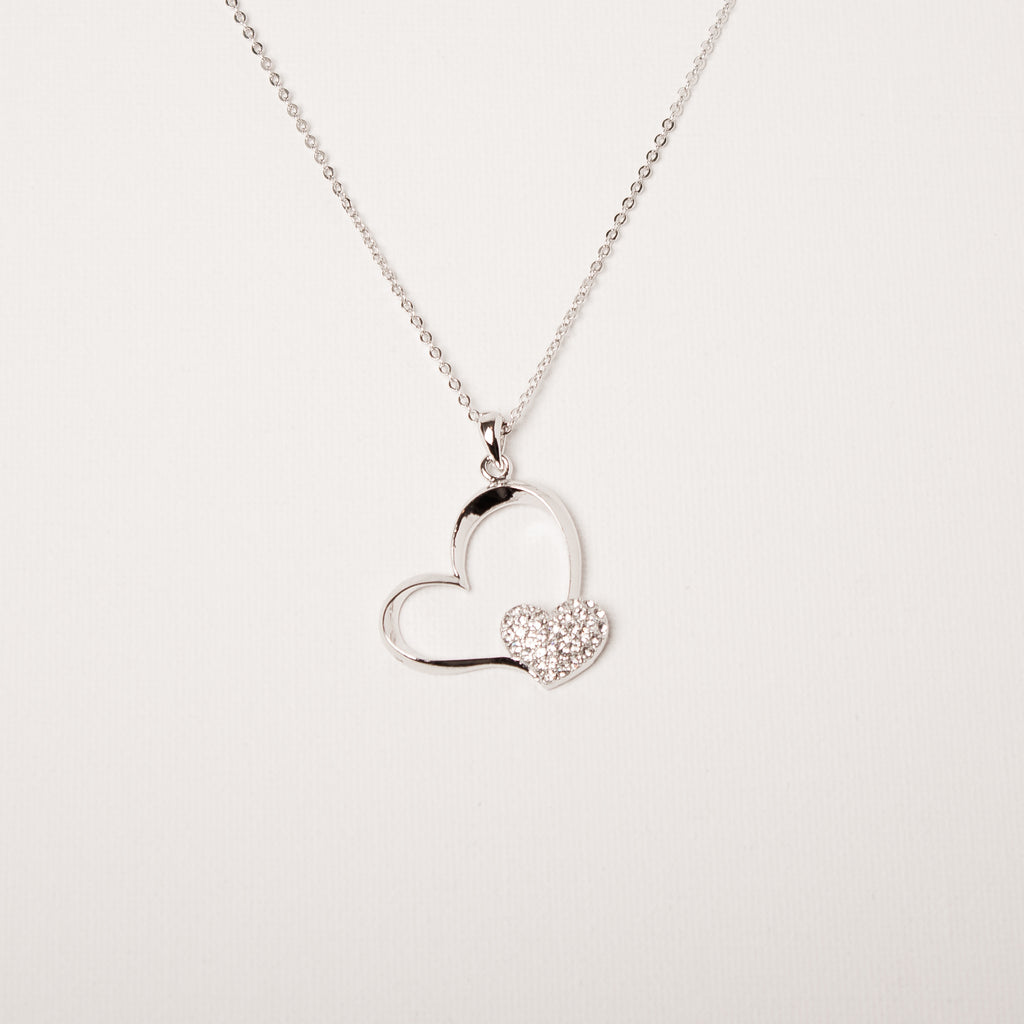 Open Heart/Cluster Heart Necklace