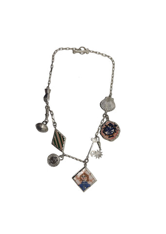 Multi charm necklace.