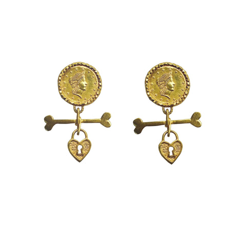 Coins & Bones earrings