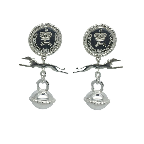 Whippet charm earrings