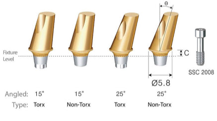 DIO SM Wide Angled Abutments