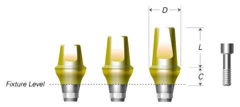 DIO UF(II) Cemented Abutments (Hex)