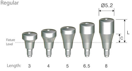 DIO SM Regular/Wide Healing Abutments
